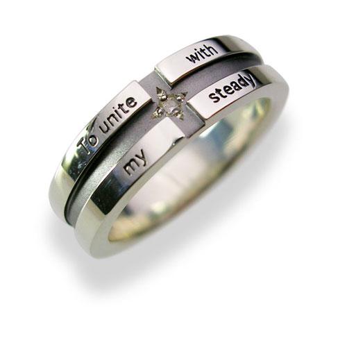 【送料無料】【刻印対応】LOVERS SCENE ラバーズシーン シルバーリング(メンズ)LSR0017DBKシルバーリング ペアリング ペア 指輪 クロス ダイヤモンド ブラックロジウム加工 プレゼント リング 刻印可能 シルバー ジュエリー ダイヤ かわいいホワイトデー お返し