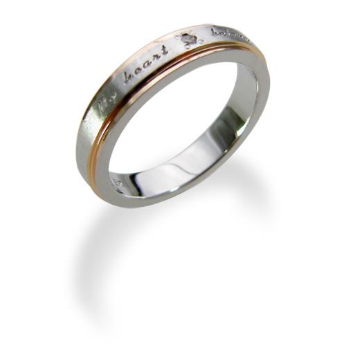 【送料無料&刻印対応】LOVERS SCENE ラバーズシーン シルバーリング レディース LSR0077DPKRM ペアリング ペア 指輪 ダイヤモンド ピンクゴールド刻印対応 プレゼント リング 刻印 シルバー ジュエリー ダイヤ かわいい 普段使い