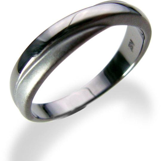 エッジをきかせたシンプルなクロスラインのリング  【刻印対応】LOVERS SCENE ラバーズシーン シルバーリング LSR5026BK ペアリング ペア 指輪 メンズ クロス プレゼント リング 刻印可能 シルバー ジュエリー ペアリングシルバー かわいい 普段使い