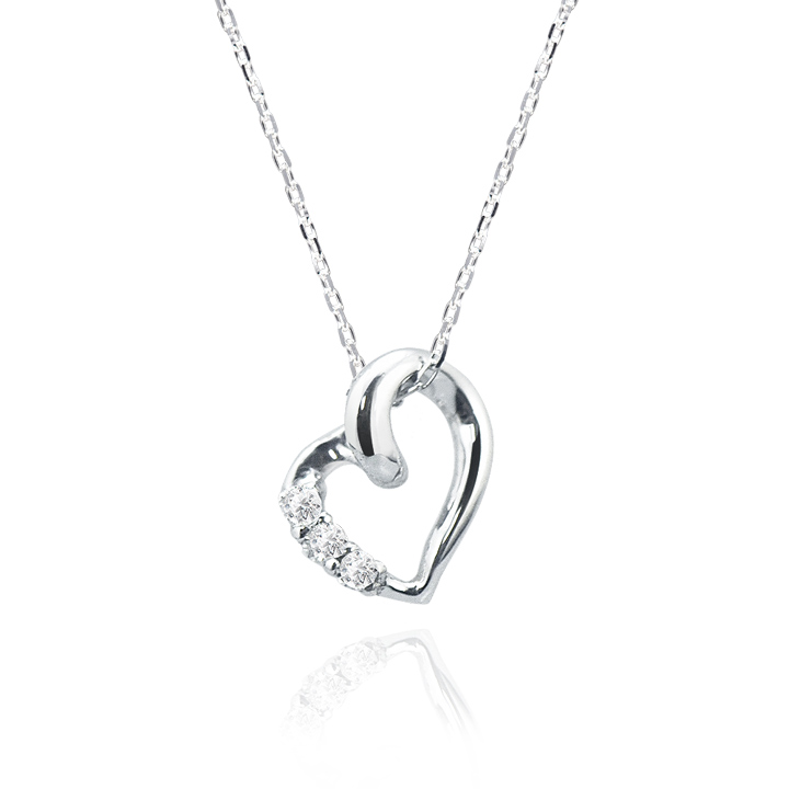 Tenshi notamago with lovers scene rakuten global market future future angel k10 white gold heart necklace pendant mip1316d mozeypictures Images