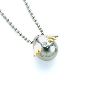 【送料無料】【納期約4週間】Tenshi no Tamago 天使の卵 ホワイトゴールド ペンダント ネックレス レディース 中 ダイヤモンド 18金 K18 天使143D シンプル 人気 ギフト 誕生日 女性 彼女 プレゼント 誕生日プレゼント