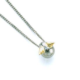 【送料無料】 天使の卵 ホワイトゴールドペンダント ネックレス レディース ペンダント 小 18金 K18 ダイヤモンド 天使144D シンプル 人気 ギフト 誕生日 女性 彼女 プレゼント 誕生日プレゼント