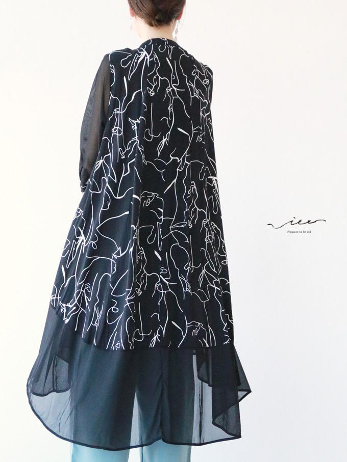 【再入荷♪♪8月8日20時より】「Vieo」線で描く美しい羽織り羽織り ゆったり レディース Vieo ヴィオ きれいめ シンプル 大人