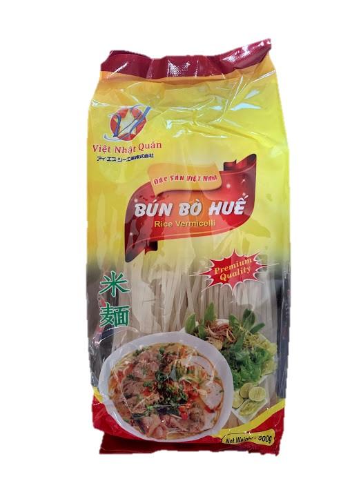 HUONG NAM ブンボーフエ(ベトナム太麺ビーフン) 500g 10袋 Bun bo hue HUONG NAM 500g 10goi 【アジアン、エスニック、ベトナム食材、ベトナム食品、ベトナム料理、ライスヌードル、ブン、ビーフン、チリソース】