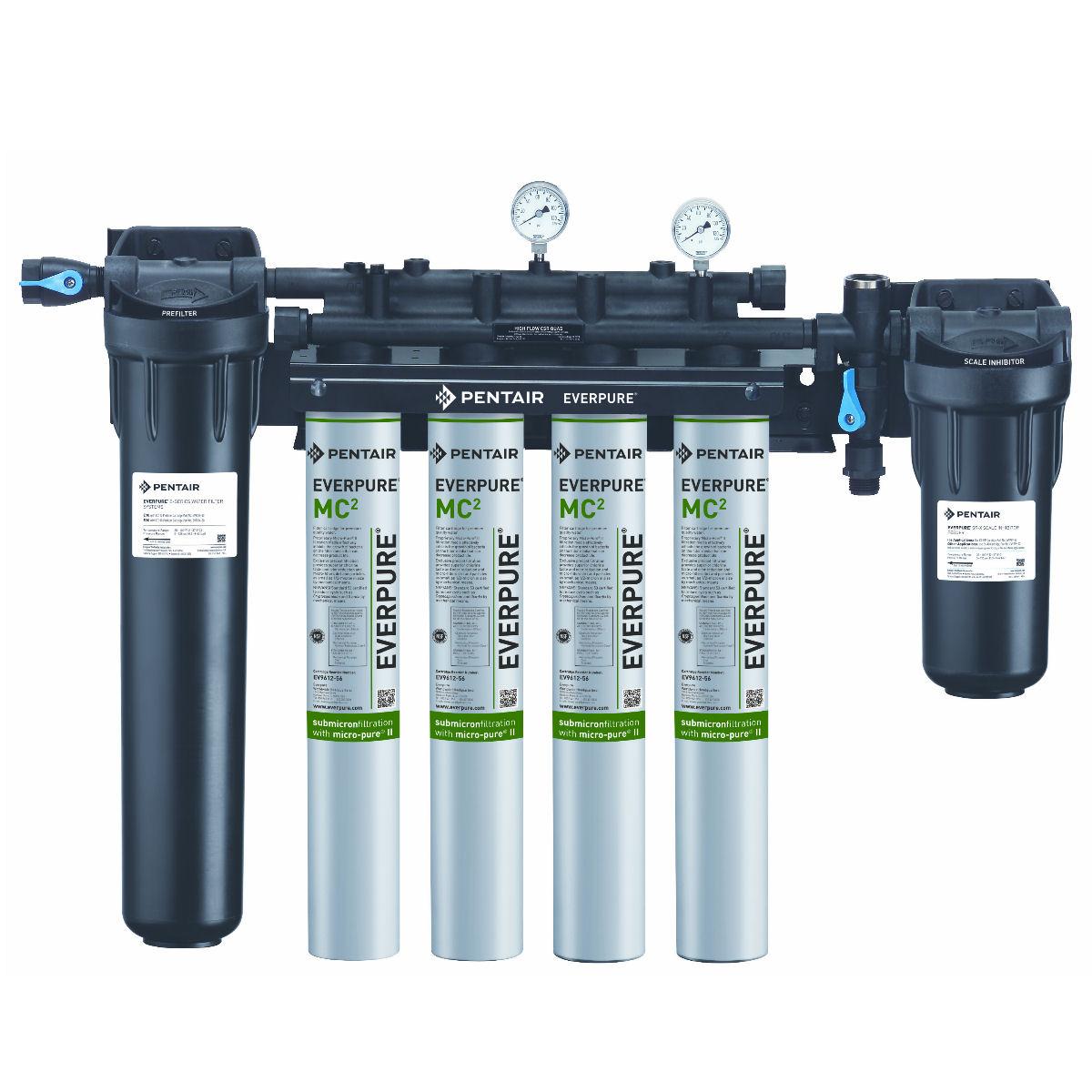 エバーピュア浄水器 ハイフローCSRクアッド 大容量処理可能・フィルタ交換ランプ搭載