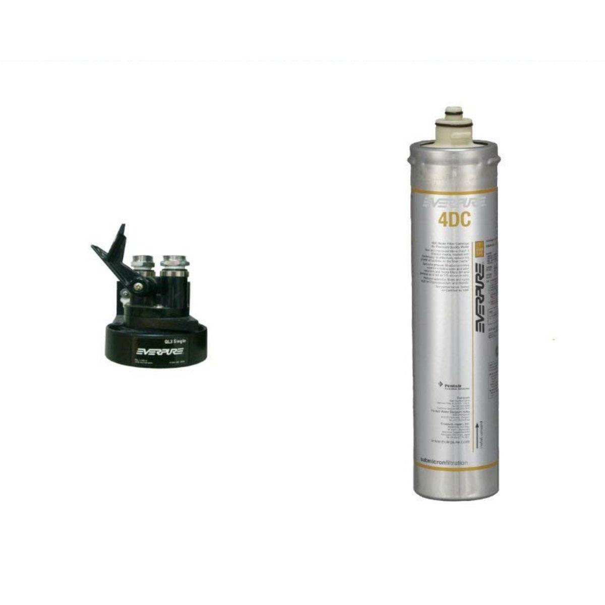 新規設置仕様  エバーピュア浄水器ヘッドフィルタセット品 QL3-4DC