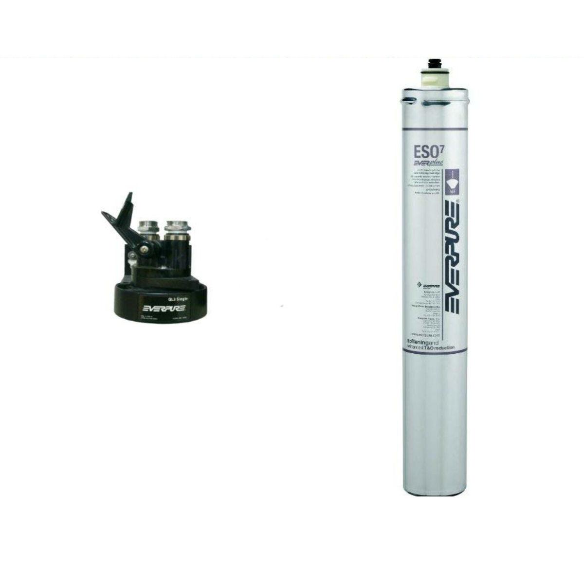 使用水中の硬度を下げ、浄化も行います! 新規設置仕様 エバーピュア浄軟水器ヘッドフィルタセット品 QL3-ESO7
