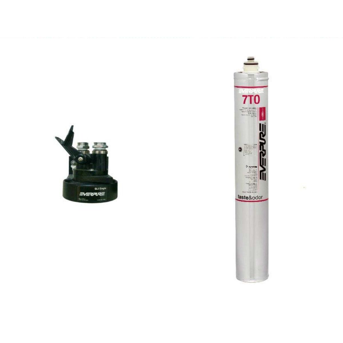 新規設置仕様 エバーピュア浄水器ヘッドフィルタセット品 QL3-7TO