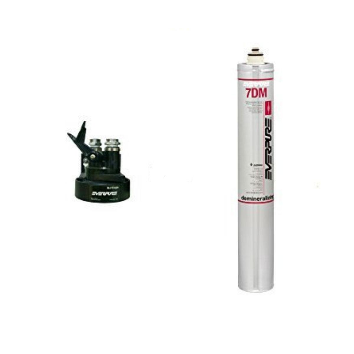 新規設置仕様  エバーピュア 純水器 ヘッドフィルタセット品 QL3-7DM 水中の硬度を限りなくゼロに