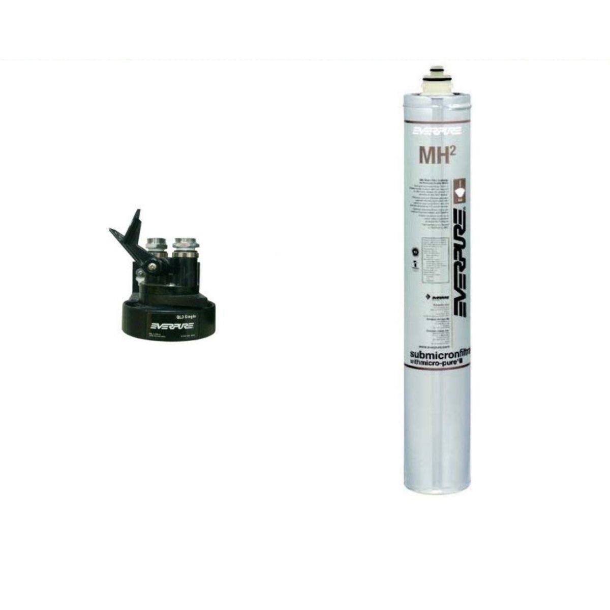 新規設置仕様 エバーピュア浄水器ヘッドフィルタセット品 QL3-MH2