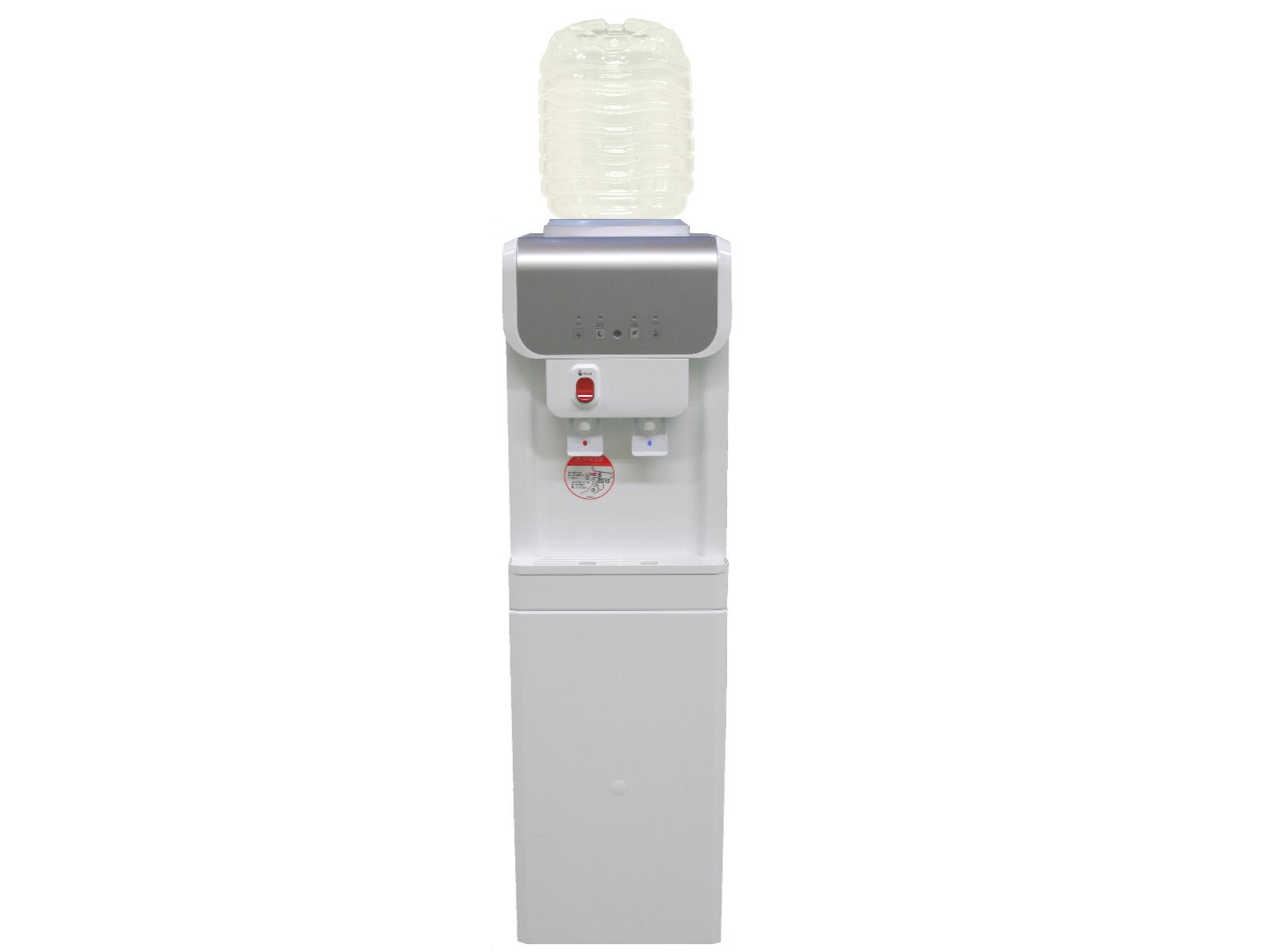 ガロンボトル用据置型ウォーターサーバー B19A1ホワイト 専用8リットルボトル2本つき