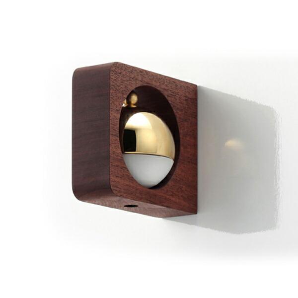 ドアベル ドアチャイム もりのね ウォールナット 角 小泉製作所 小泉屋 KOIZUMIYA おしゃれ 両面テープ