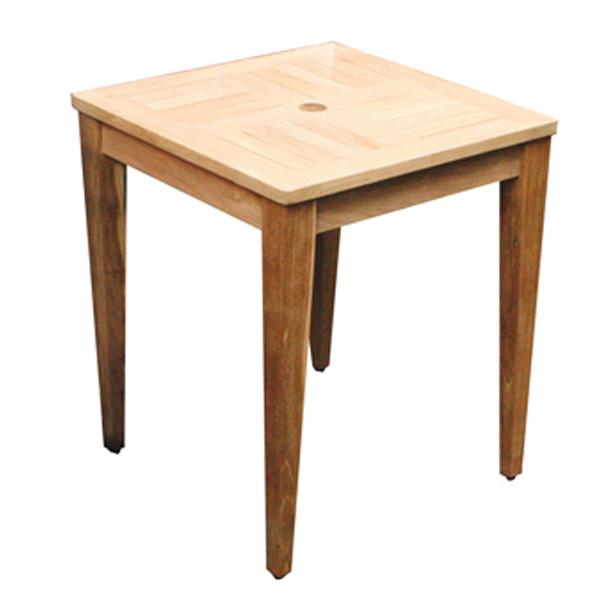 【100円クーポン対象】コンビネーション テーブル 正方形 天板 0606 型 + 角脚 70 ガーデンテーブル チーク 無塗装 キャッシュレス還元