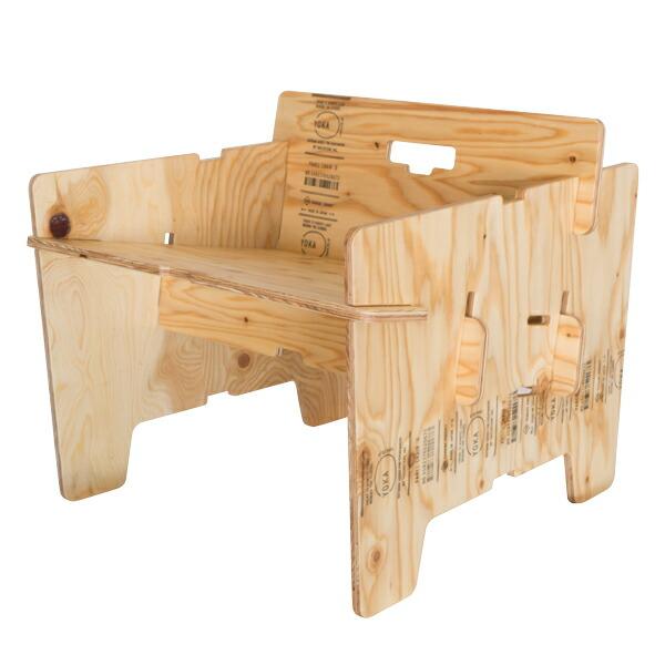 YOKA ヨカ パネルチェアD(塗装済み職人仕上げ) 折りたたみ 木製