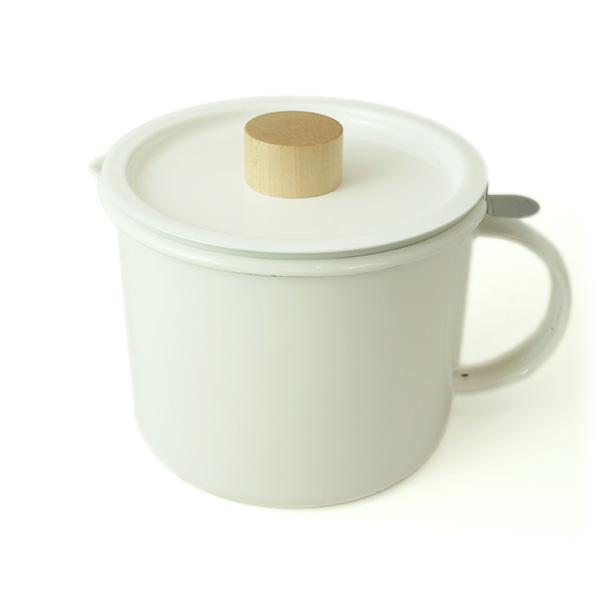 【8/4-8/9エントリーでポイント10倍】オイルポット ホワイト 1.8L kaico カイコ K-013 oil pot 琺瑯 ホーロー 活性炭フィルター付き 油こし