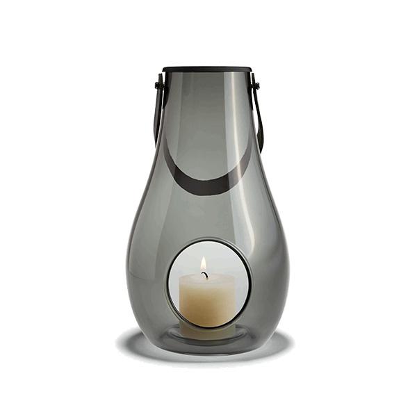ホルムガード ランタン クリア ブラック H25cm HOLMEGAARD キャンドル テーブルライト ガラス デンマーク 北欧 DESIGN WITH LIGHT 4343536 スモーク
