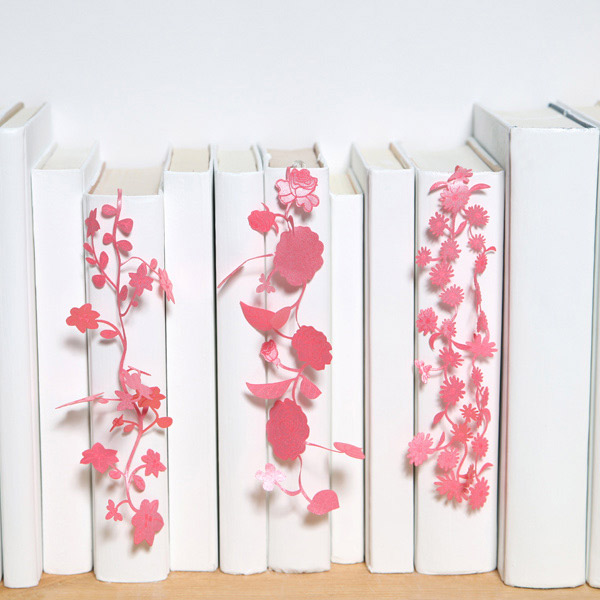 Viewgarden A Bookmark Designs See Oh Ribbon Flower Salmon Pink