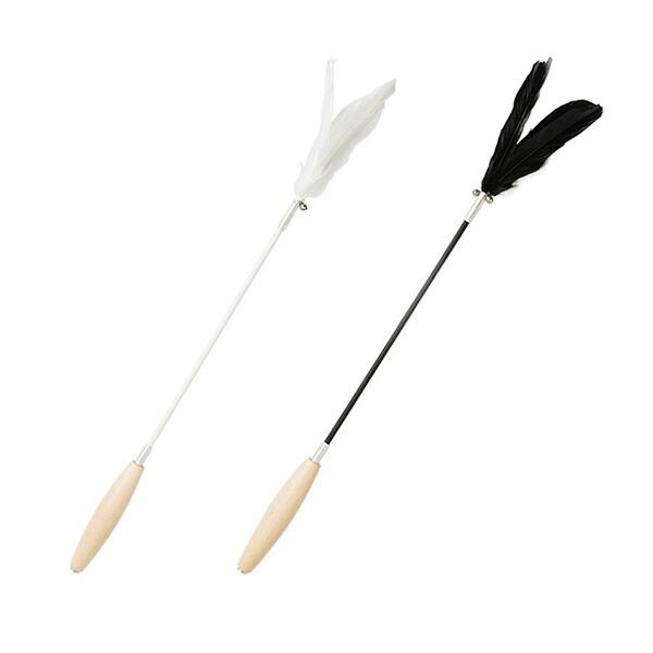 【全2色】pidan Handhold 木製 ハンドル 付き 羽根 の 猫じゃらし Cat Teaser Wand