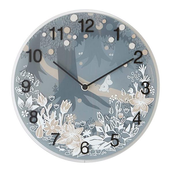 ムーミン 時計 グッズ Moomin in the forest タイムピーシーズ Wall clock 壁掛け ガラス ムーミングッズ 春 新生活
