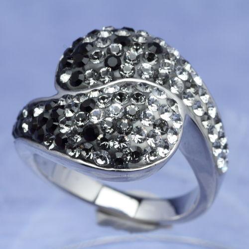 スワロフスキー リング センシビリティ シルバー925 ブラック サイズ9号指輪 オリバーウェバー(OLIVER WEBER) プレゼント メンズ レディース あなたのハートを鷲掴み 誕生日 おしゃれ ギフト