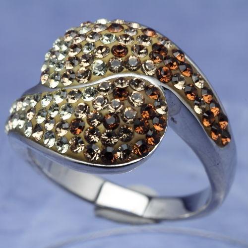 スワロフスキー リング センシビリティ シルバー925 トパーズ サイズ14号指輪 オリバーウェバー(OLIVER WEBER) プレゼント メンズ レディース あなたのハートを鷲掴み 誕生日 おしゃれ ギフト