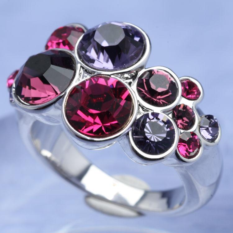 スワロフスキー リング カット ロッド バイオレット サイズ11号 指輪 オリバーウェバー(OLIVER WEBER) プレゼント メンズ レディース あなたのハートを鷲掴み 誕生日 おしゃれ ギフト