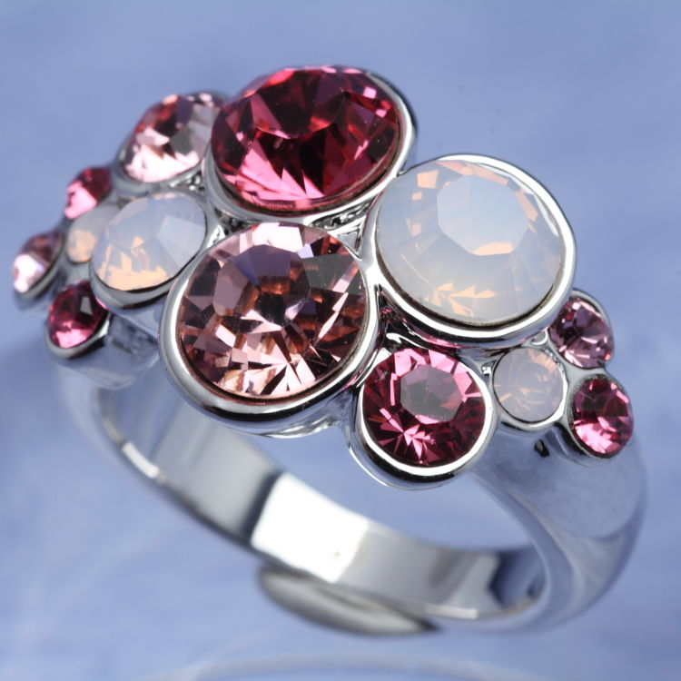 スワロフスキー リング カット ロッド ローズ サイズ11号 指輪 オリバーウェバー(OLIVER WEBER) プレゼント メンズ レディース あなたのハートを鷲掴み 誕生日 おしゃれ ギフト