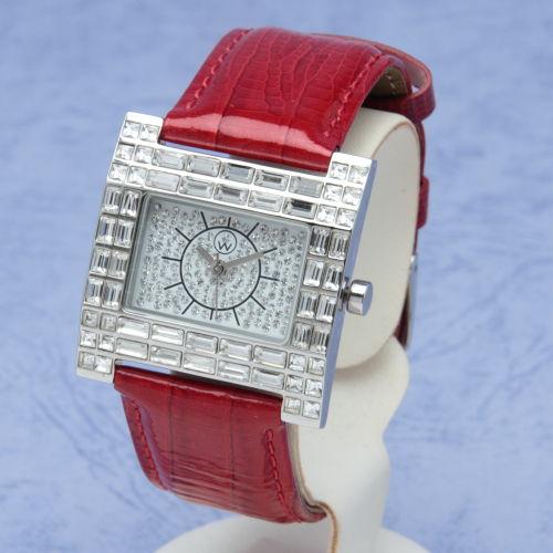 スワロフスキー 腕時計 ポートヴィラ レッド Port Vila red オリバーウェバー(OLIVER WEBER) プレゼント メンズ レディース あなたのハートを鷲掴み 誕生日 おしゃれ ギフト