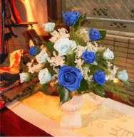 ファインブルー 青い薔薇(バラ)のアレンジプリザーブドフラワー[PW]