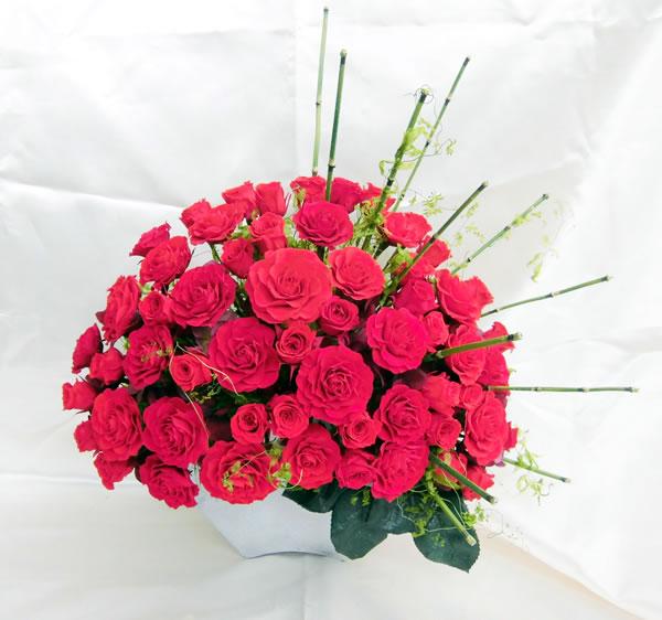 60本の赤いバラ RED ROSE OOGI 和モダンテイスト/プリザーブドフラワー[PW]