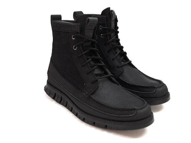 COLE HAAN ZEROGRAND TALL.BOOT BLACK/ASH GREY コールハーン ゼログランド ブーツ