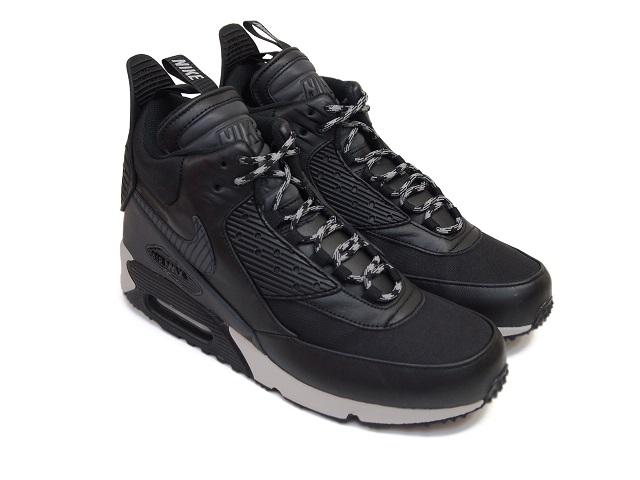 NIKE AIR MAX 90 SNEAKERBOOT WNTR BLACKBLACK BLACKMAGNET GREY Nike Air Max 90 sneaker boots winter