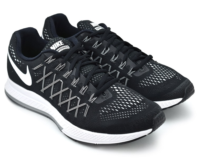 new style 714b6 d3790 NIKE AIR ZOOM PEGASUS 32 BLACK/WHITE-DARK GREY Nike air zoom Pegasus 32