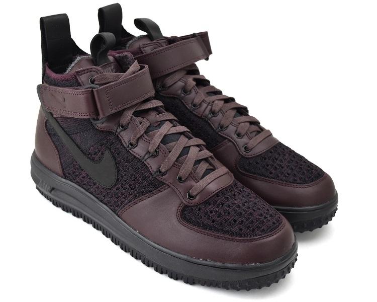 NIKE LUNAR FORCE 1 FLYKNIT WORKBOOT DEEP BURGUNDYBLACK Nike luna force 1 fly knit work boots