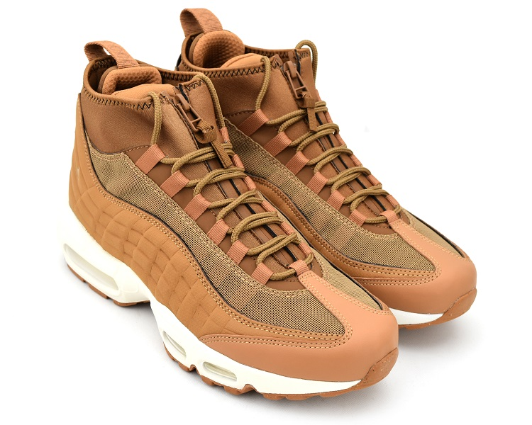 NIKE AIR MAX 95 SNEAKERBOOT FLAXFLAX ALE BROWN SAIL Kie Ney AMAX 95 sneakers boots