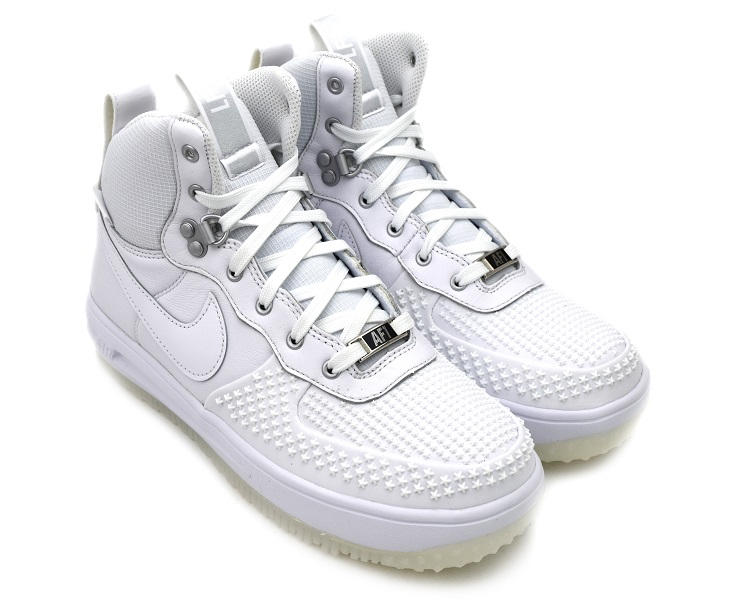 NIKE LUNAR FORCE 1 DUCKBOOT GS WHITE/WHITE-WHITE ナイキ ルナ フォース 1 ダックブーツ GS