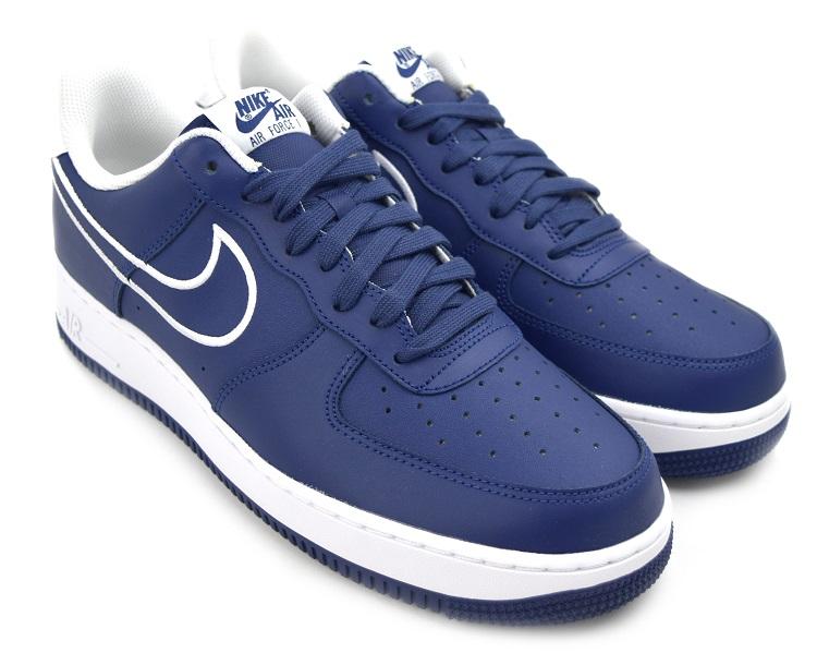 NIKE AIR FORCE 1 '07 LTHR BLUE VOIDWHITE Nike air force 1
