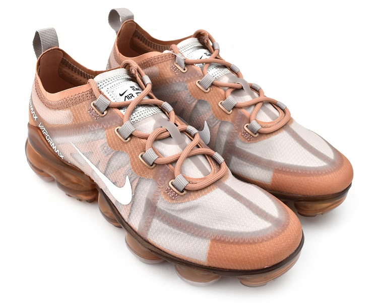 WMNS NIKE AIR VAPORMAX 2019 ROSE GOLD/SUMMIT WHITE women Nike air vapor max  2019