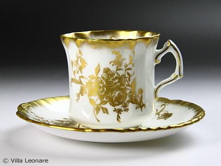 【ハマーズレイ】ゴールドのフラワーブーケ カップ&ソーサー