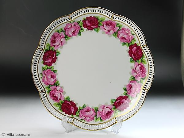 【シューマン】ピンク2色の薔薇 大型プラター