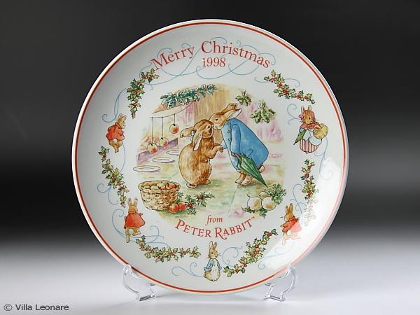 【ウエッジウッド】ピーターラビット  クリスマスプレート 1998年