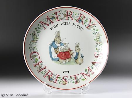【ウエッジウッド】ピーターラビット クリスマスプレート 1991年