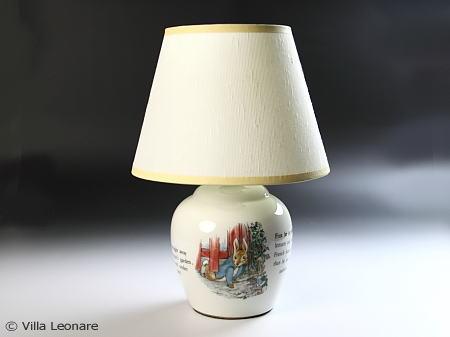 【ウエッジウッド】ピーターラビット 電気ランプスタンド
