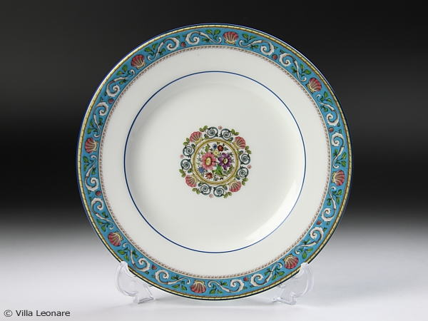 Runnymede turquoise plate (bread & butter)