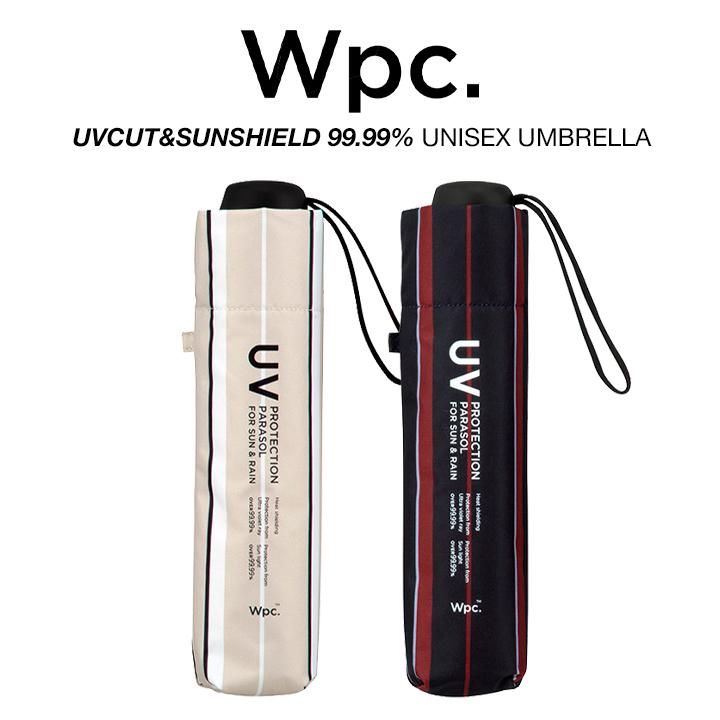 Wpc 一級遮光 遮光遮蔽率99.99%の軽量日傘 男女兼用折りたたみ傘 日傘 物品 折りたたみ傘 軽量 遮光遮蔽99.99% UVカット 男女兼用傘 801-UNISEX メンズ 遮光パラソルユニセックス ワールドパーティー Wpc. レディース ストライプ 晴雨兼用傘 100%品質保証!