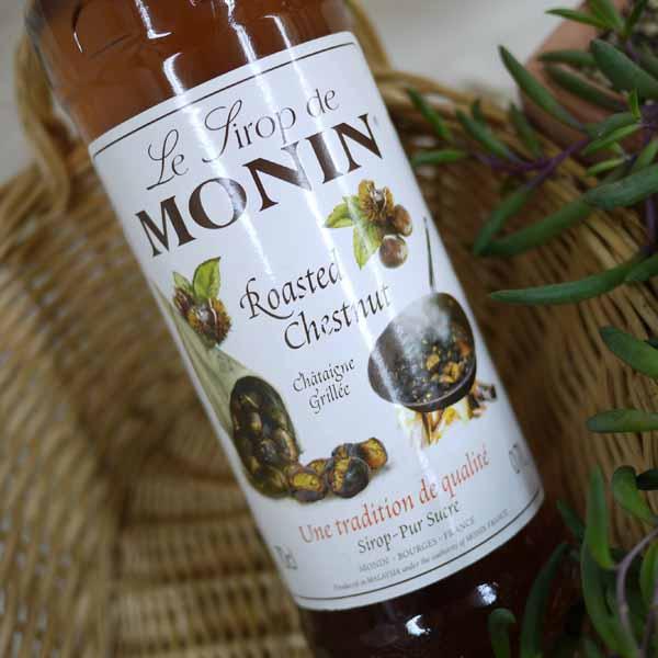 じっくりとローストした栗の芳ばしい香りと甘みが楽しめます 舗 モナン ローステッドチェスナッツ 700ml シロップ 舗 焼栗
