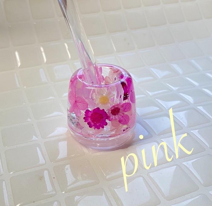 固まるハーバリウム ハーバリウム 歯ブラシスタンド 歯ブラシ立て ピンク ペン立て 印鑑立て ピンク pink インテリア ギフト gift お見舞い プレゼント あじさい 紫陽花 固まるハーバリウム 夏ギフト