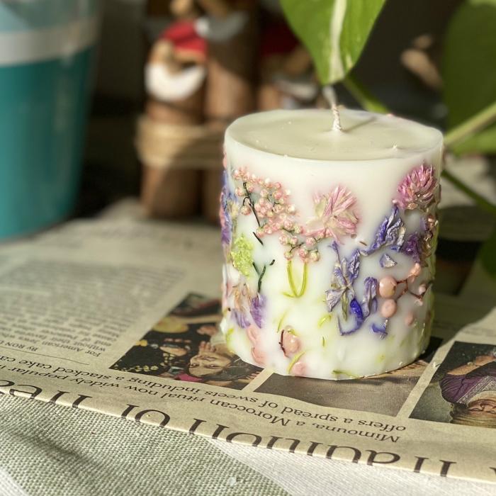 灯すと香りがたつ ボタニカルキャンドル アロマキャンドル ラベンダーローズの香り 最新 流行 人気 韓国キャンドル ソイキャンドル 公式サイト お見舞い プレゼント gift キャンドル candle ギフト お祝い返し インテリア
