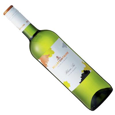 柑橘系のフレッシュな果実味が豊かに広がり、爽やかで清々しく透明感があり、程よい骨格も備えた、まさにお買い得な1本 【フランスワイン】【白ワイン】ベルフォンテーヌ・ブラン・セック [辛口]