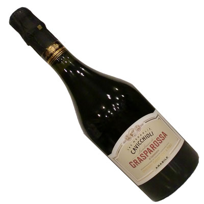 弱発泡性・やや甘口の赤ワイン 【イタリアワイン】【赤ワイン】カビッキオーリ  ランブルスコ ロッソ アマービレ [スパークリングワイン][やや甘口][弱発泡]